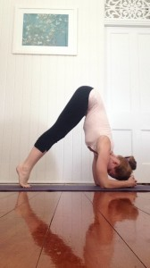 Learn to Headstand : lift your head (side view)