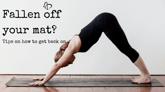 Live and Breathe Yoga Townsville Tips on how to get back on your yoga mat