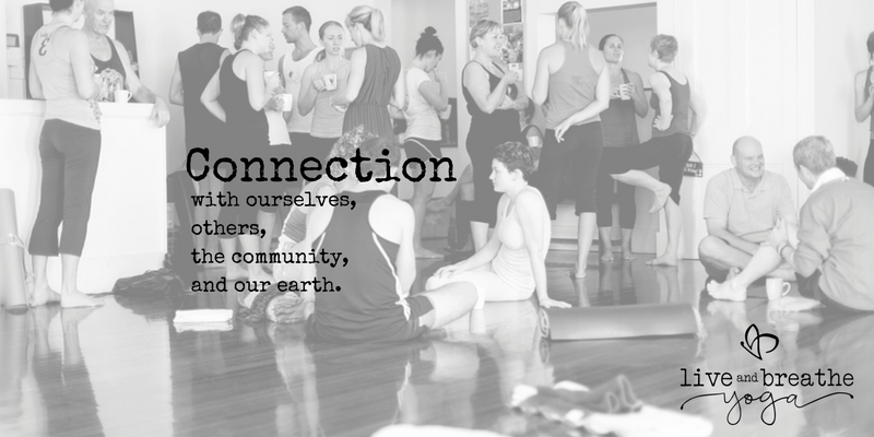 Connection at Live and Breathe Yoga Townsville
