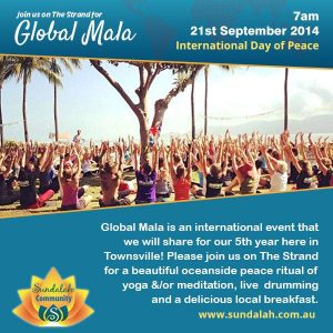 Townsville yoga Global Mala