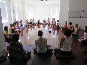 yoga sutras with allison and dani